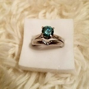 Jewelry - 2ct Moissanite Two Ring Set - Size 8